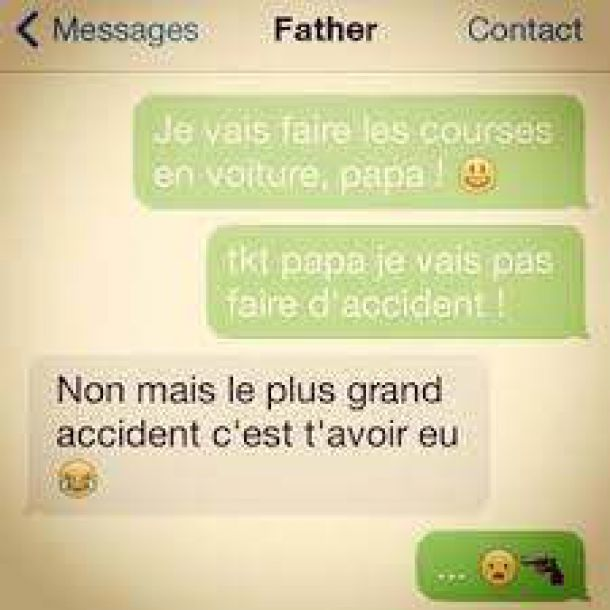 accident paternel perles des sms