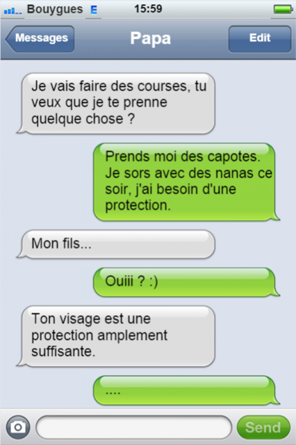 protection papa perles des sms