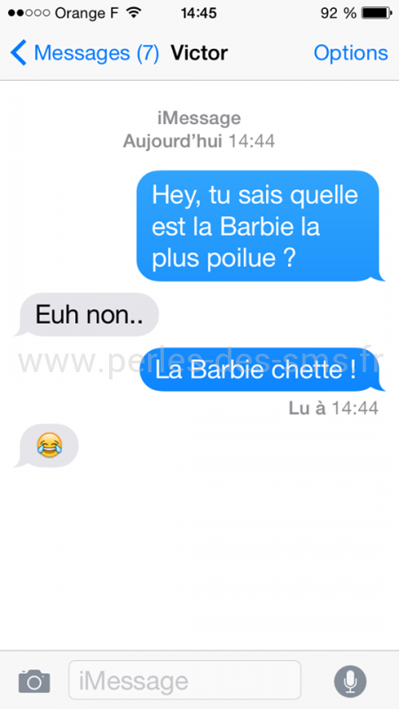 barbie blague perles-des-sms