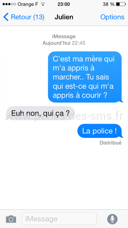 course, police, perles des sms