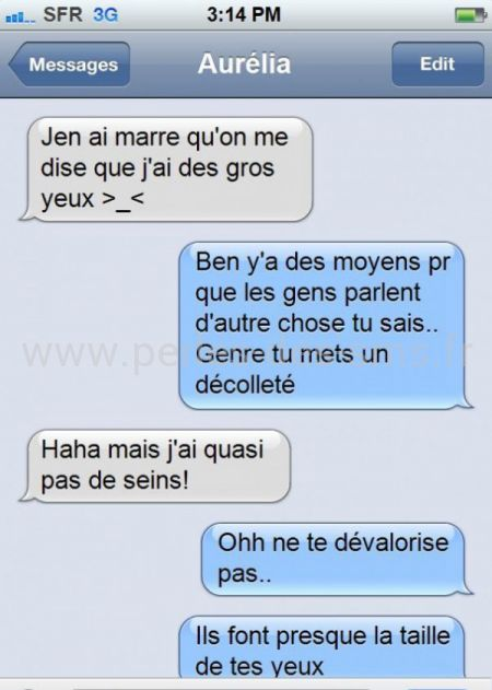 gros yeux perles des sms