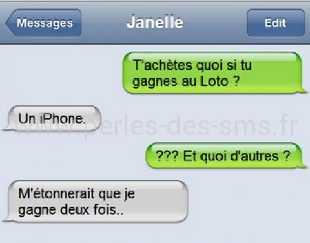 loto iphone perles de sms