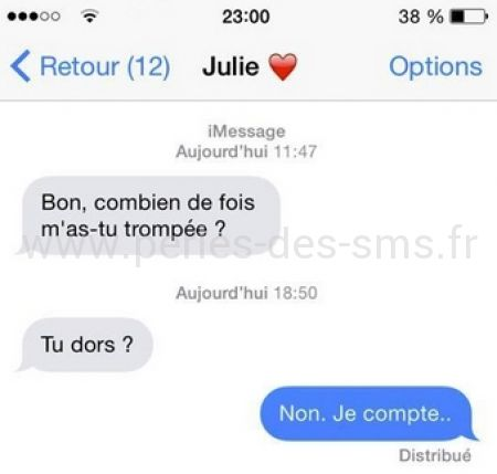 tromperie couple perles des sms